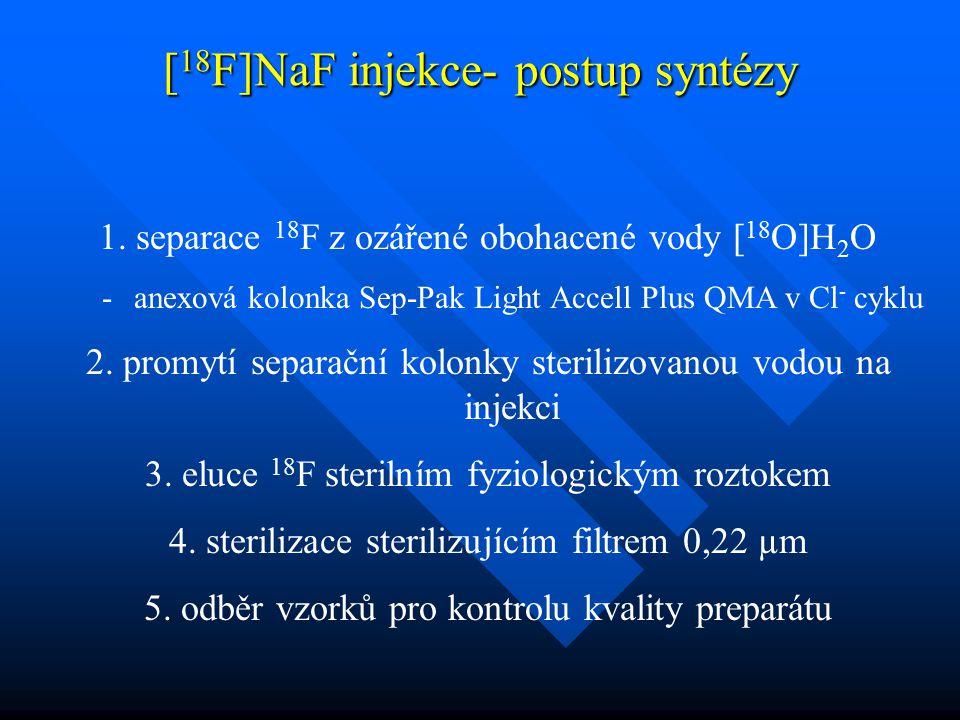[18F]NaF injekce- postup syntézy